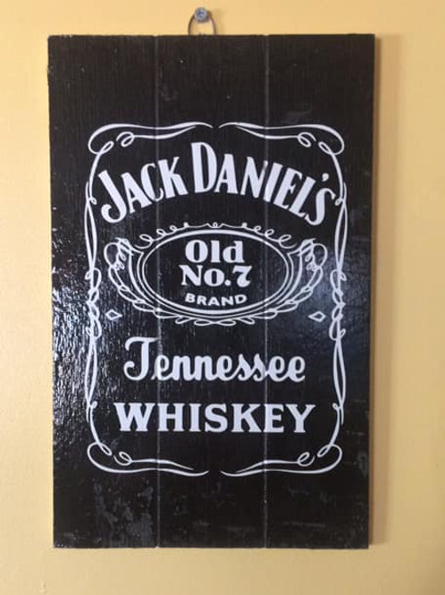 JD wooden sign
