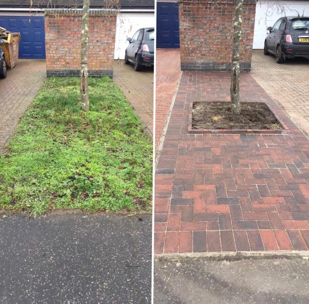 blocked paving installation