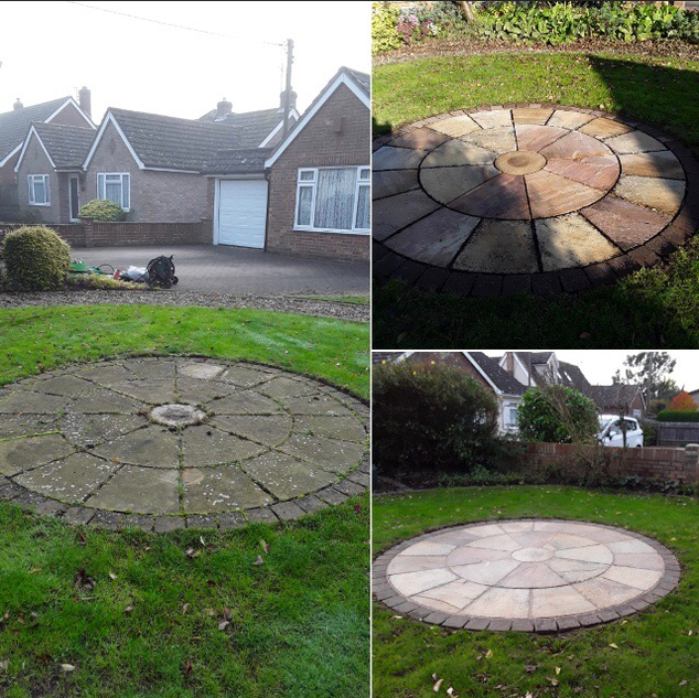 Stone circle cleaning