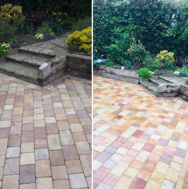 Indian sandstone cleaning