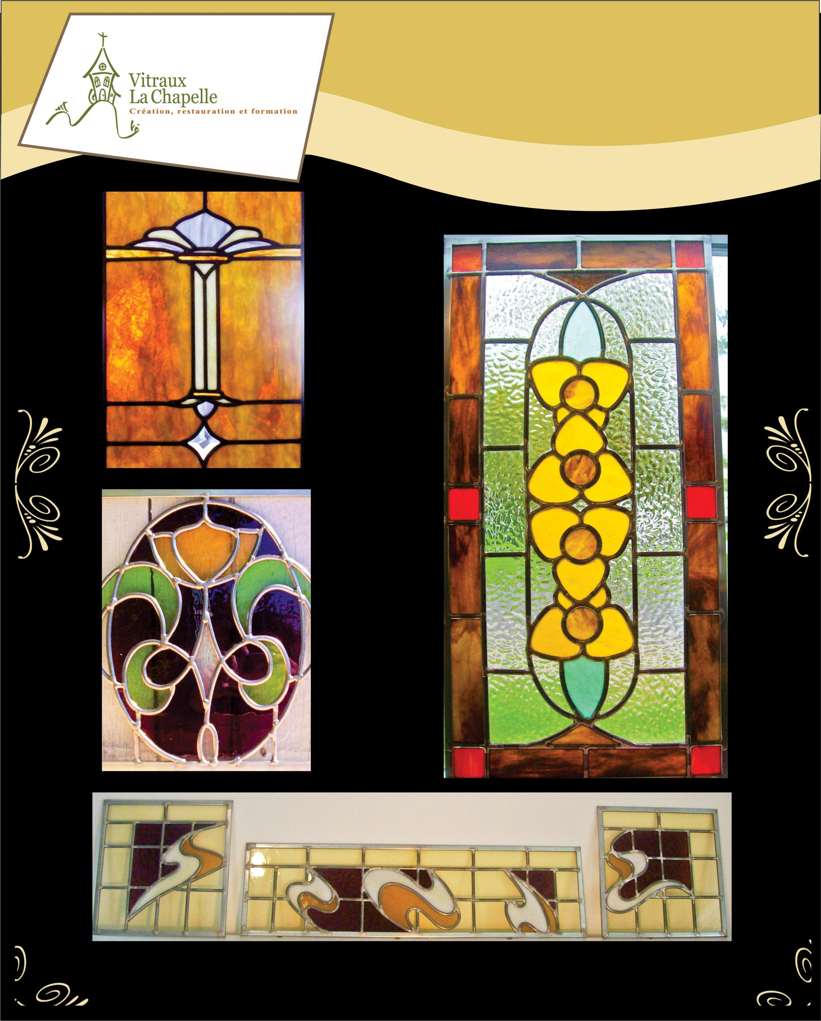 Vitraux décoratifs, fenêtre