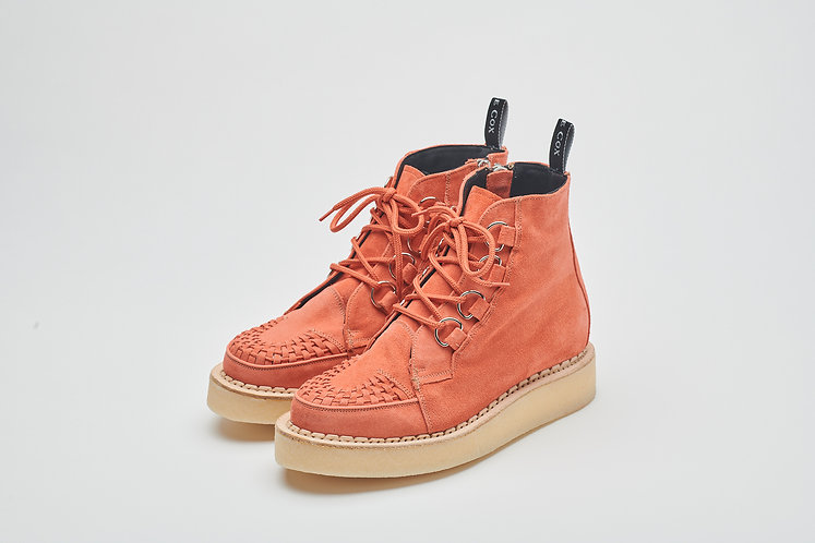 """Coral"" V-ZIP D-Ring Derby Creeper Boot"