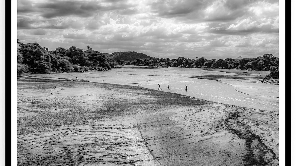 Shepherds cross a River, Africa, 2018. Fine Art Print. 60 x 80 cm. Edition 10.