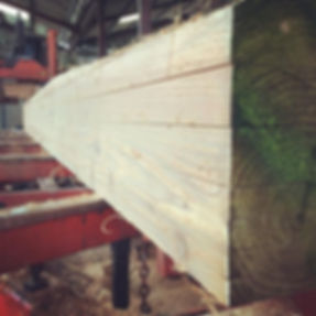 sawn timber, planked by a woodmizer