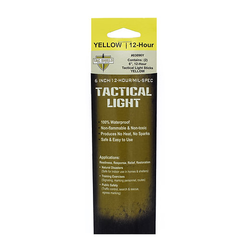 Tactical 12 Hour Light Stick - Yellow - 2-Pack