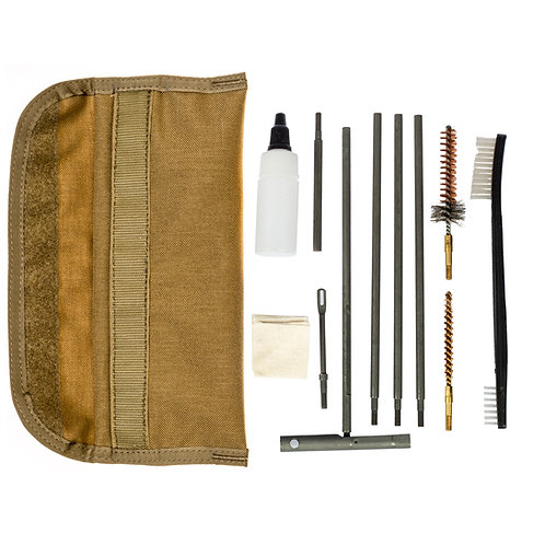 12-PIECE M4/M16/AR15 RIFLE FIELD CLEANING KIT