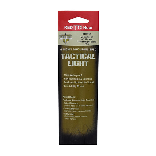 Tactical 12 Hour Light Stick - Red - 2-Pack