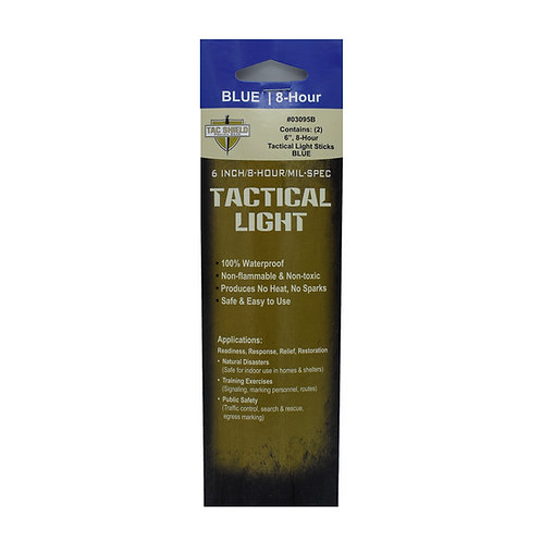 Tactical 8 Hour Light Stick - Blue - 2-Pack
