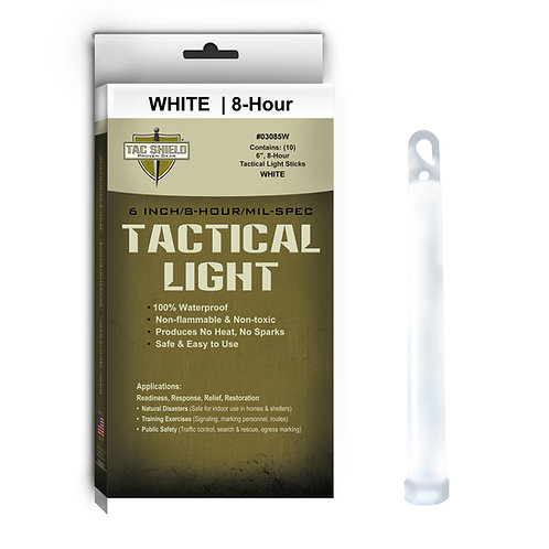 Tactical Light Stick - White - 10 Pack