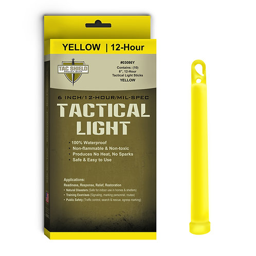 Tactical Light Stick - Yellow - 10 Pack