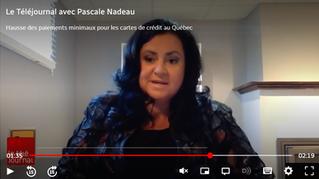 Reportage Radio-Canada : Intervention de notre présidente Pascale Cantin.