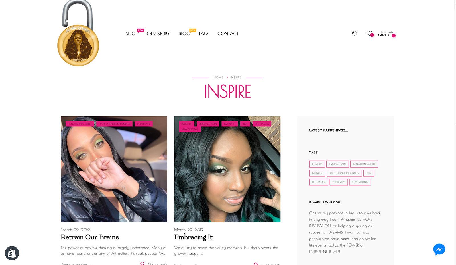 Fa'Nae Leroyce Inspire Blog