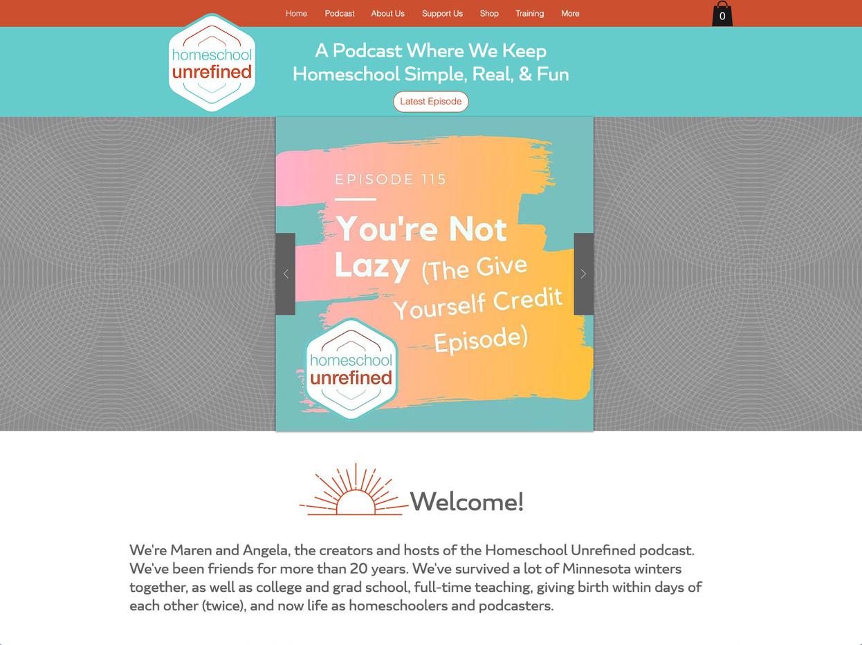 Homeschool Unrefined Website