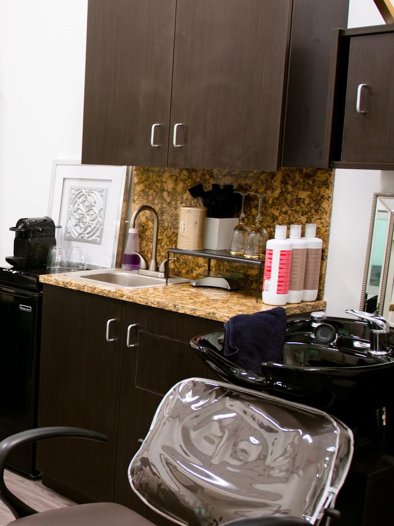 2 sinks & granite counters
