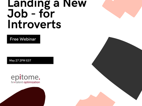 Land A Job - for Introverts Webinar