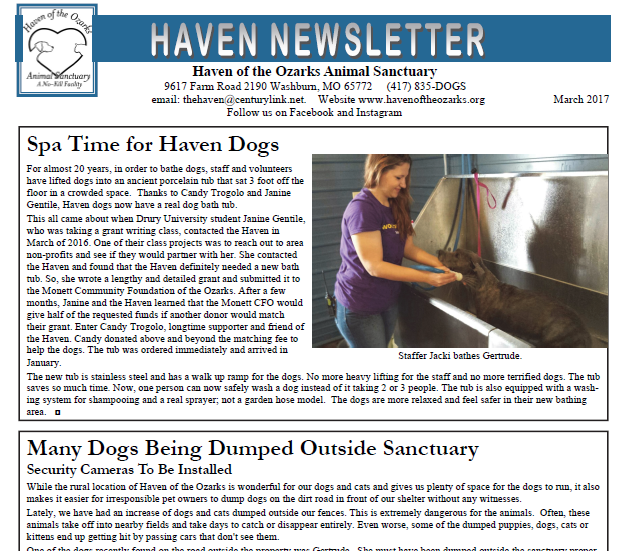 March Newsletter. Click on the image to view the entire newsletter!