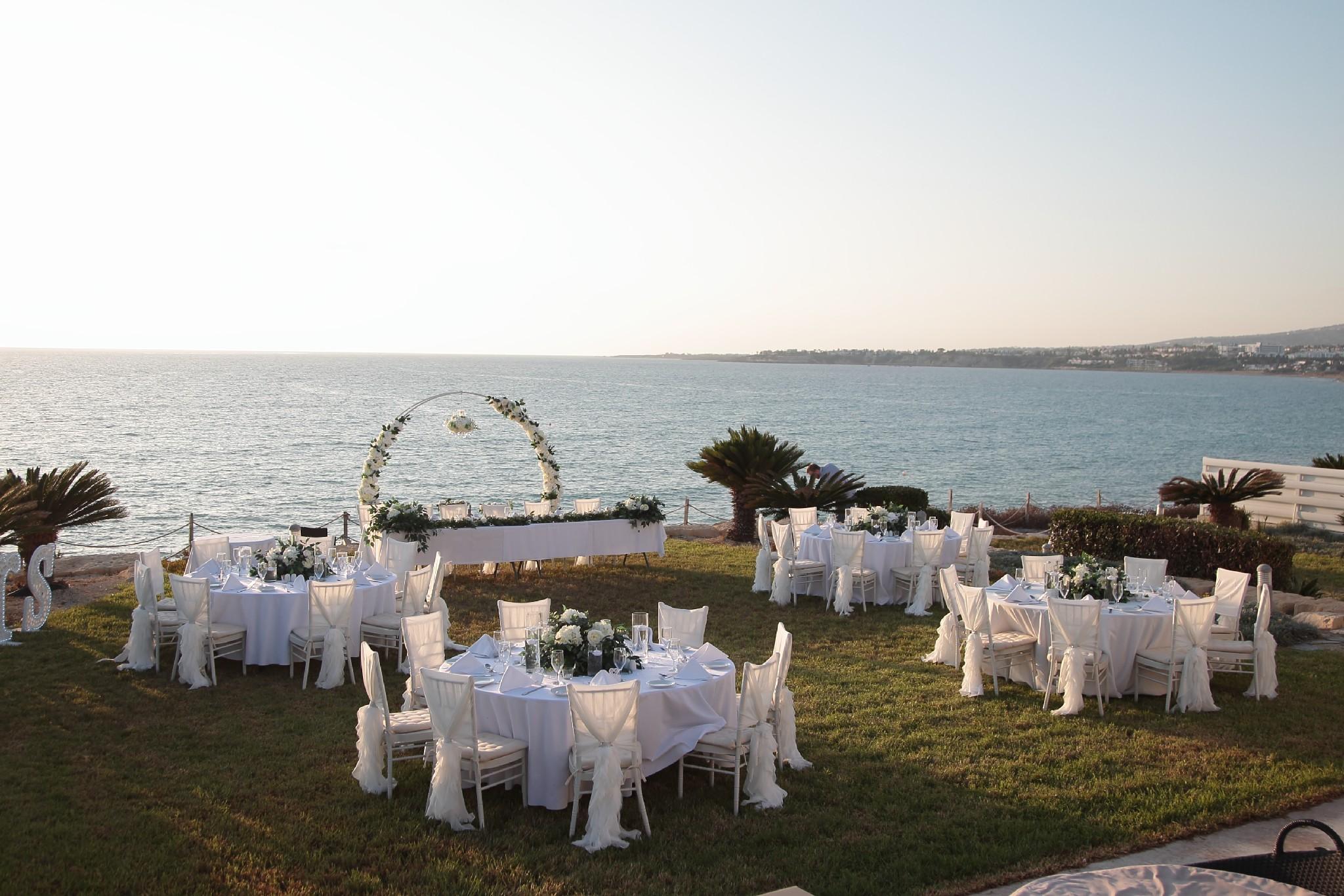 Beach villa wedding Paphos Cyprus