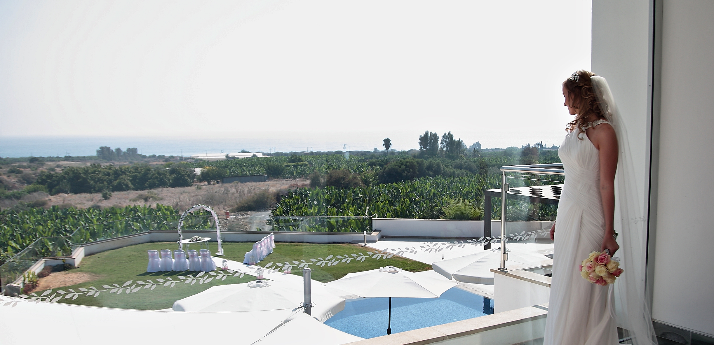 Wedding at luxury villa Cyprus