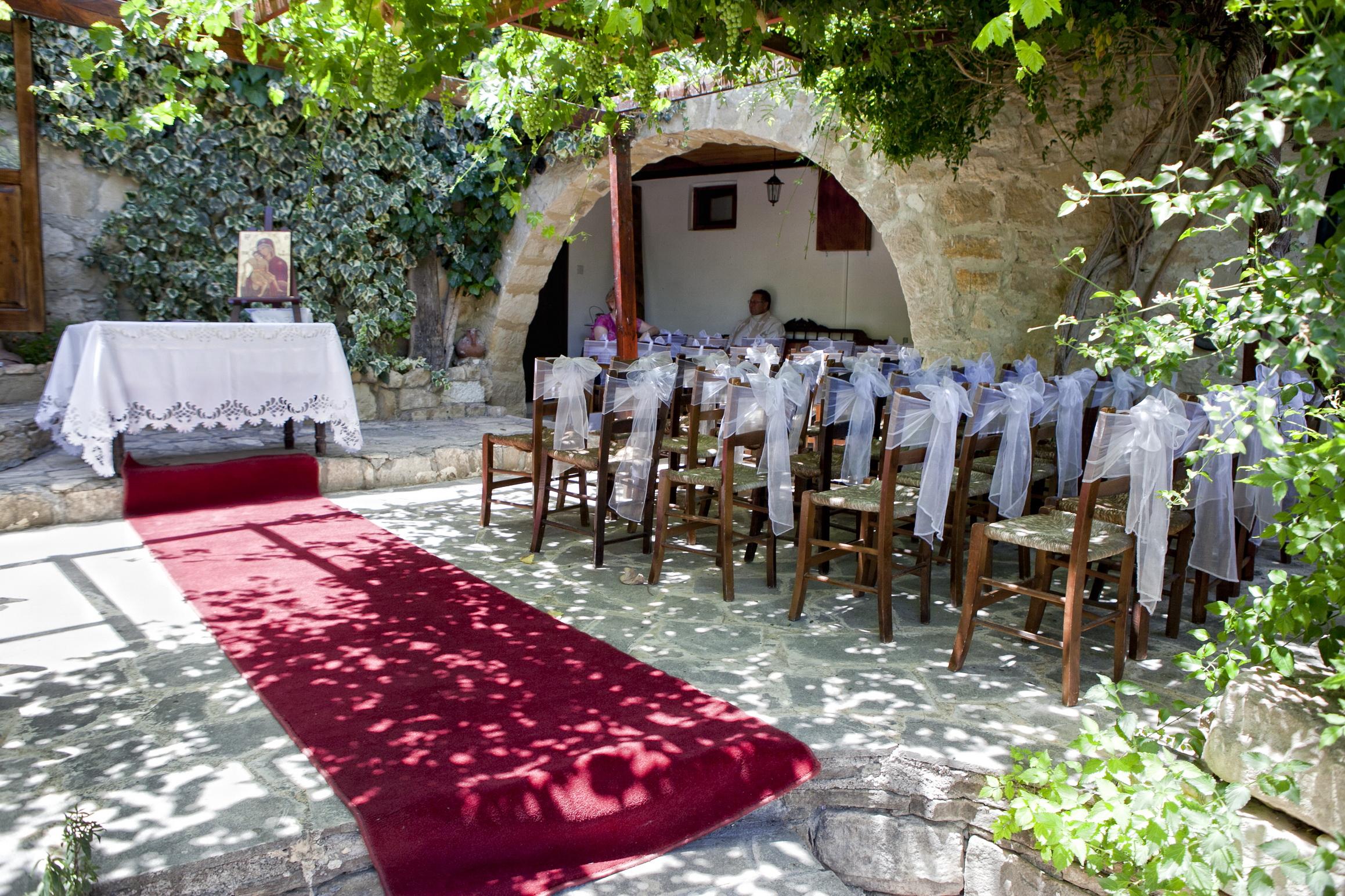 Vasilias ceremony courtyard Cyprus