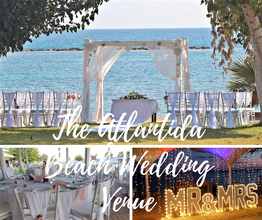 Atlantida Beach Wedding Venue Paphos Cyprus for personilized wedding packages for 2020, 2021 and 2022