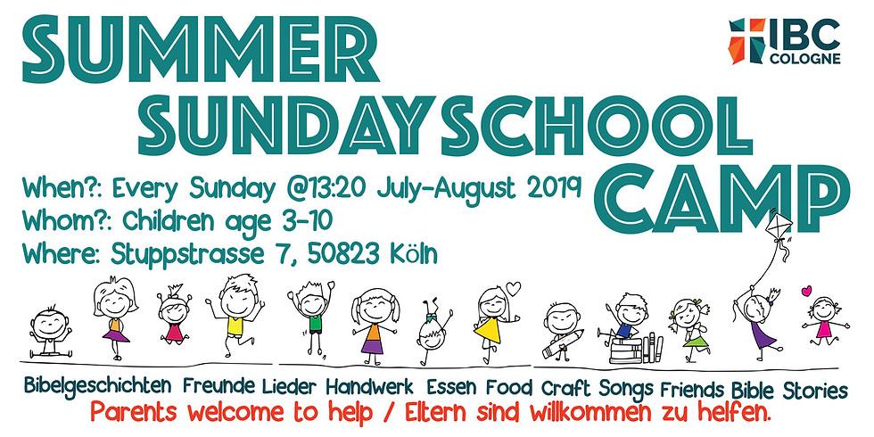 Summer Sunday school camp
