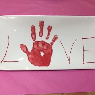 Plaque hand print