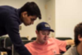 Ayushman Lahiri and Vincent Padula during BUFMC meeting