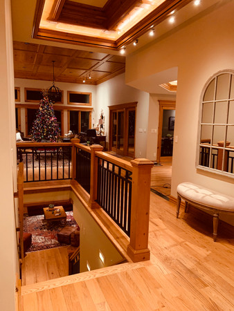 Great Room upstairs & Family Room downstairs
