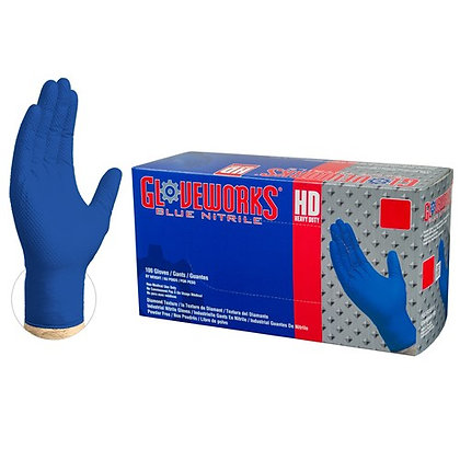Gloveworks HD Royal Blue Nitrile Latex Free Disposable Gloves (Case/1000)