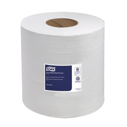 """Tork® Advanced Center Feed Hand Towels 7.6"""" x 590' White 2 Ply"""