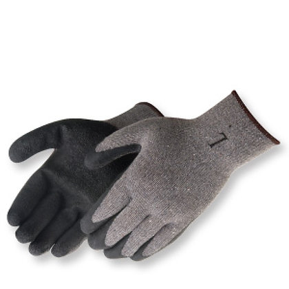 Grey Textured Latex Dipped Gloves(12/pkg)