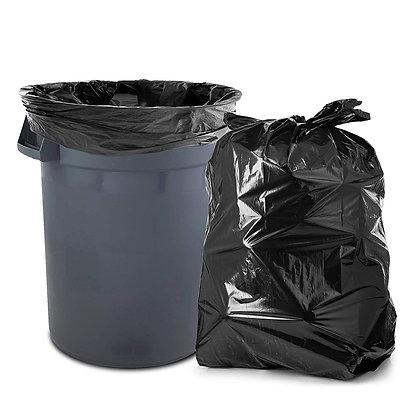 "38"" x 58"" 60 Gal Black Trash Can Liner"