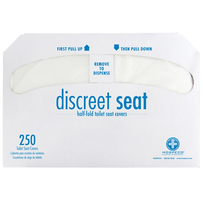 Discreet Seat® Toilet Seat Covers 1/2 Fold 250/Package
