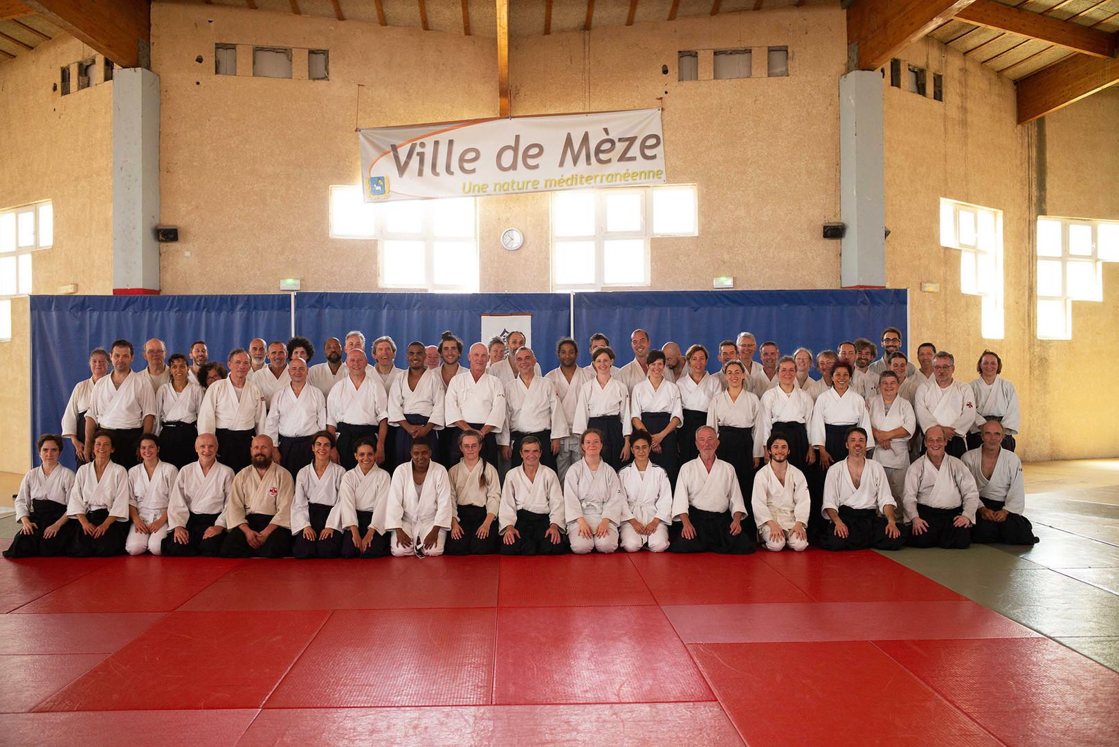 Pratiquants aïkido ville de mèze, Institut Français d'Aïkido