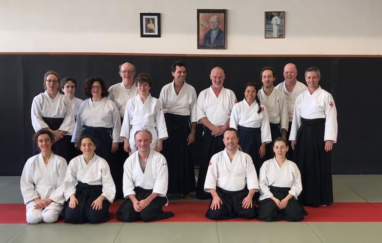 Pratiquants aïkido club de Verrières
