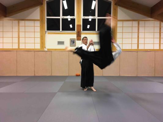 Cours aïkido club de Bias
