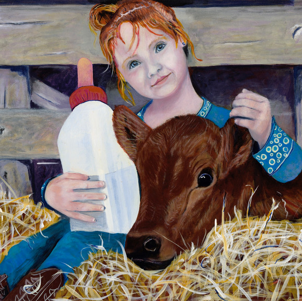 Elsie With Calf