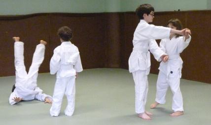 Cours d'aïkido club de Sainte Foy, enfants