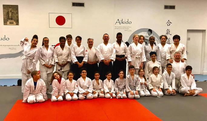 Cours d'aïkido club de Vénissieux