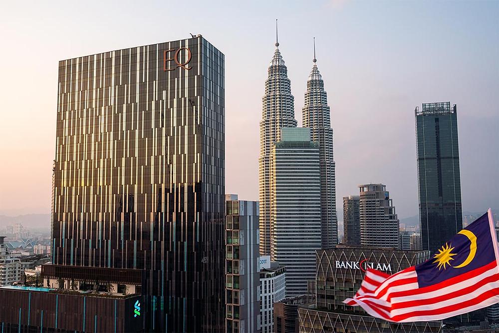 Petronas Towers Kuala Lumpur Sunset Cityscape