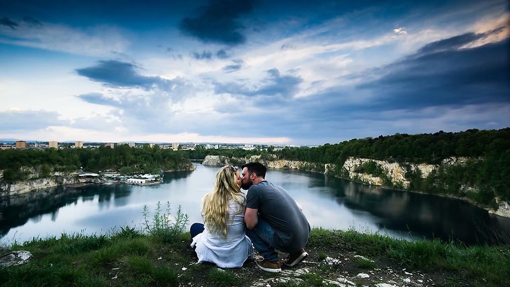 Couple Kissing at Zakrzowek Lake