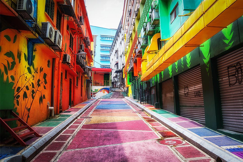 Colourful Graffiti Street Kuala Lumpur