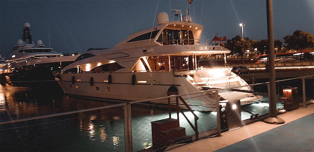 Luxury Yacht in Barcelona Marina