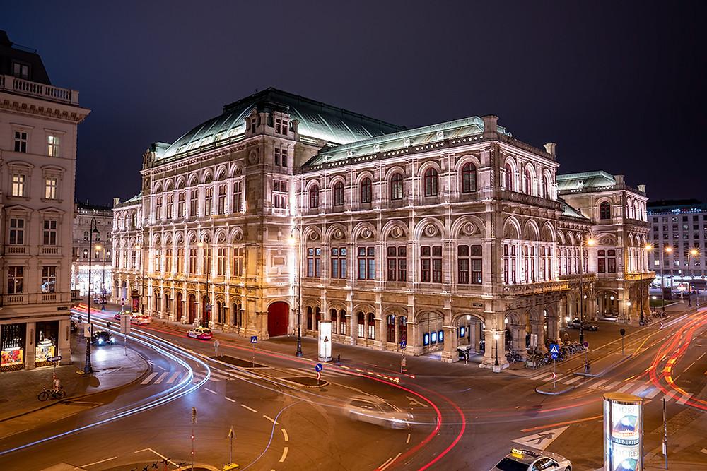 Vienna State Opera House Long Exposure at Night