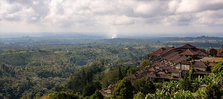 Viewpoint from the side of the road in Bali