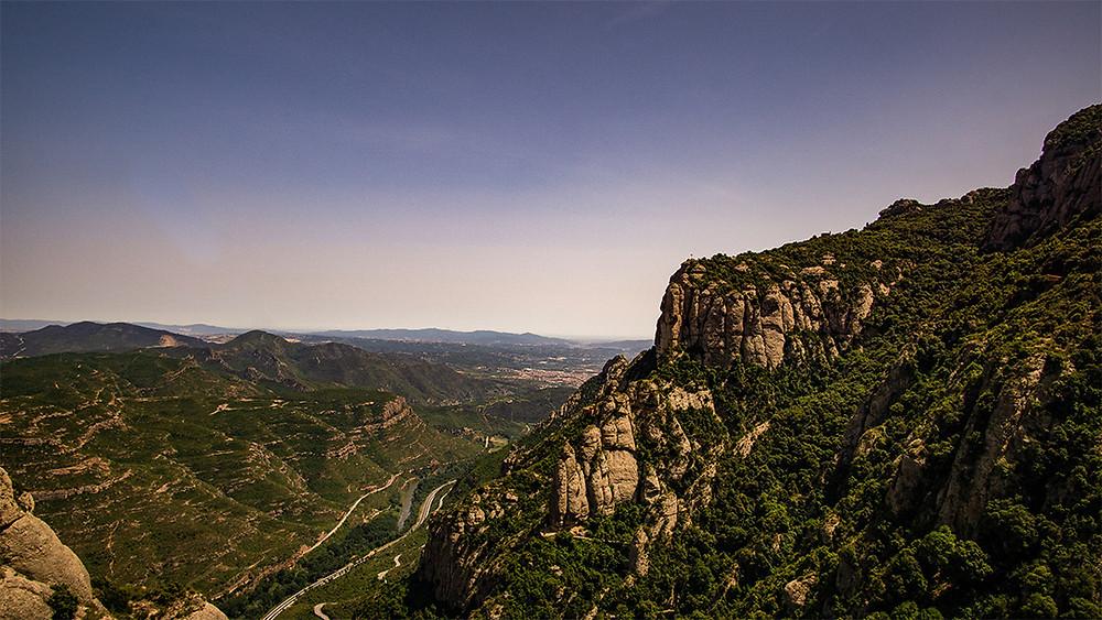 View of Mountain landscape from monseratt