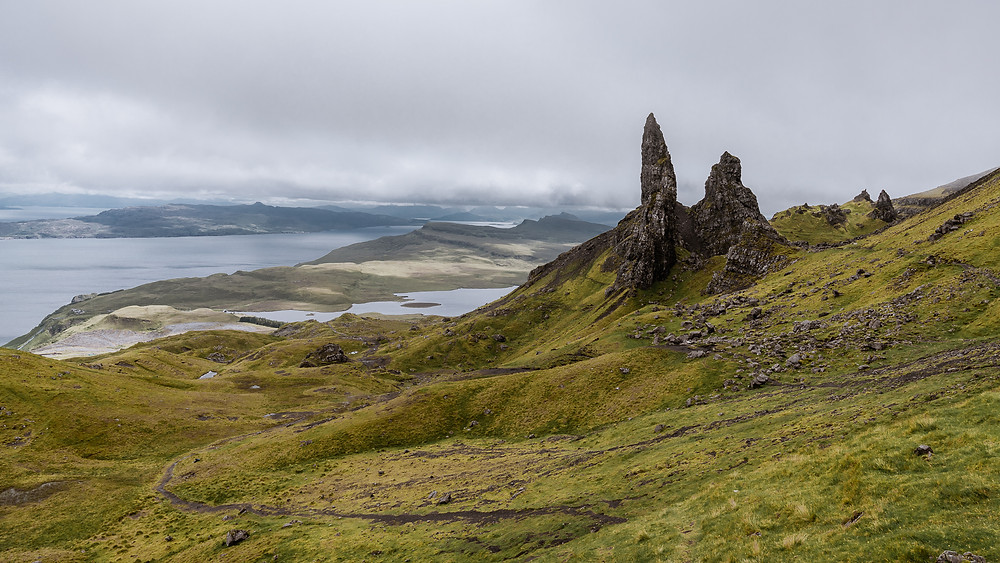 The Old Man Of Storr Mountain Rocks