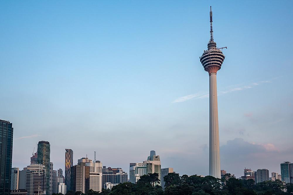 KL Tower and Kuala Lumpur Skyline Cityscape