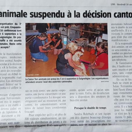 Article du Franc Montagnard du 14.08.2020