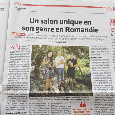 Article Journal du Jura paru le 17.08.2018